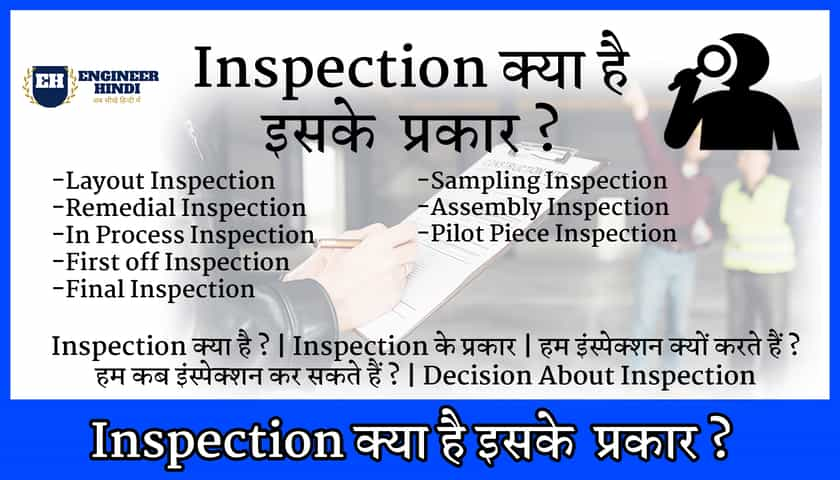 type of inspection in hindi